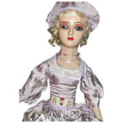 "28"" Boudoir Doll Art Deco Style lashes TlC Free P&I US Buyers"