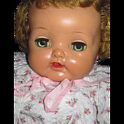 "21""Big Eyes Vintage Ideal Cloth & Vinyl Doll Free PI US BUyers"