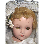 "18"" Effanbee compo Bride doll with wrist tag free  P&I US Buyers"