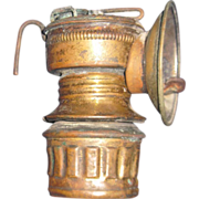 Old Universal Lamp Co Springfield Coal Miner's Brass Lamp Free P&I US Buyers