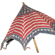 1900's Stars & Stripes Parade Parasol Flag Patriotic Umbrella Free P&I US Buyers - Red Tag Sale Item