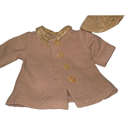 Vintage Hat and Coat for your 40 50s Alexander AC or Fashion Doll  Free P&I US Buyers