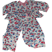 Cute Flowered PJ'S For your Composition Alexander Effanbee Teen type Dolls ! Free P&I US Buyers