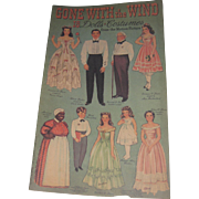 1990 Gone with the Wind Paper Dolls Turner uncut Free P&I US Buyers
