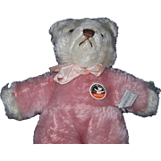 "Rare Mutzli Swiss  Mohair 10 "" Teddy Bear made for Woodward & Lothrop Washington, DC Free P&I US Buyers"
