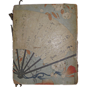Beautiful Japanese  Cloth Paper  Book  Dichtergrusse Aus Dem Osten Prof Dr. K Florenz in Tokyo Free P&I US BUYERS