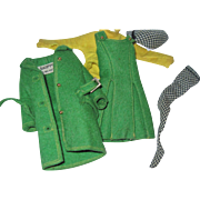 Vintage Tagged Green Felt Skipper Outfit Barbie Free P&I US Buyers Free P&I US Buyers