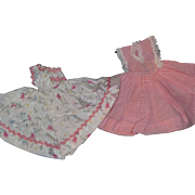 2 lovely doll dresses for Jill, little Miss Ginger, Litlle Miss Revlon Fashion dolls. Free P&I US Buyers