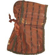 Magnificent 1800's Ladies Bonnet museum quality Free &I US Buyers