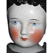 "Awesome 1800'S  33"" China Flat Top Doll Free P&I US Buyers"