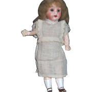 """8"""" Vintage Bisque lass eye Doll Free P&I US Buyers"""