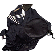 20's 30's  Vintage Child or large Doll Atlantic Sailor Navy Cruise ship outfit Free P&I US Buyers
