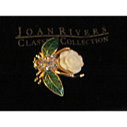 Gorgeous Joan Rivers Gardenia ltd. ed. Bumble Bee  Brooch Free P&I US Buyers
