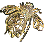 Beautiful Jon Rivers Snow Flake Bumble Bee Brooch Free P&I US Buyers