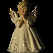 """Rare Large 7"""" LEFTON Boy Angel Planter Free P&I US Buyers"""