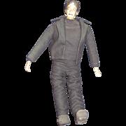 "Vintage 70's OOAK  artist 21"" Frankenstein bisque head Doll Free P&I US Buyers"