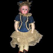 "Beautiful 1840's wax over Papier Mache 20"" Doll Free P&I US Buyers"