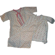 Adorable Flannel 3 piece  rose design fo Dy Dee Doll & Friends   Free P&I US Buyers