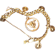 Pacific North West Telphone Co  Vintage Gold Filled Charm bracelet