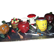 Adorable 6 Apple Shelf Sitters including Apple Sauce Free P&I US Buyers