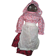 """14"""" Black Bottle Door Stop Cloth Mammy Doll"""