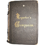 1800's Scarce Reporter's Companion by Benn Pitman phonographic Insititute Cinn, Ohio Court Reporting