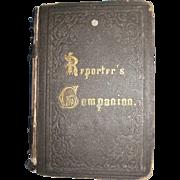 1800's Scarce Reporter's Companion by Benn Pitman phonographic Insititute Cinn, Ohio Court Reporting