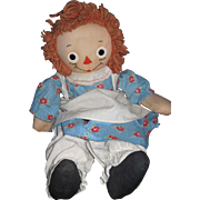"Vintage 18"" Georgene Raggedy Ann Doll Free P&I US Buyers"