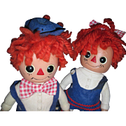 Adorable 1976 Royalty Raggedy Ann & andy Doll banks Free P&I US Buyers