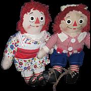 "19"" Pr Raggedy Ann & Andy Dress Me Dolls Free P&I US Buyers"