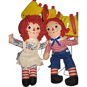 Cute Raggedy Ann and Andy Knickerbocker Marionettes Free P&I US Buyers