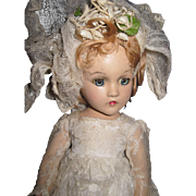 """Fabulous Madame Alexander 15"""" Wendy composition Bride  Doll Free P&I US BUYERS"""
