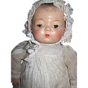 """Sweet 17"""" Rare Madame Alexander Composition doll baby Free P&I US Buyers"""