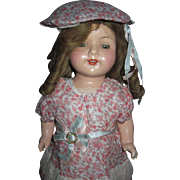 """17"""" Beautiful Effanbee composition Rosemary doll Free P&I US Buyers"""