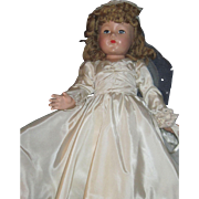"Beautiful 21"" Effanbee Composition Bride Doll Free P&I US Buyers"