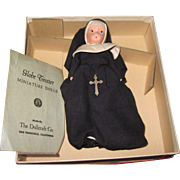 Lovely Sister Bernadette Nun Bisque Globe Trotter Storybook Doll w/bx free P&I US buyers