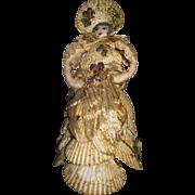 "9"" Vintage Sea Shell Bonnet Doll Free P&I US Buyers"