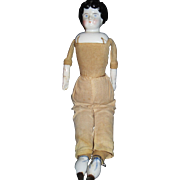 "13"" Low Brow China head doll Free P&I US Buyers"