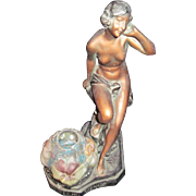 "Awesome 14"" Echo Venus Art Deco Nude Lamp  Free P&I US Buyers"