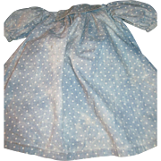 Wonderful Poka Dot Cotton Dress for your larger China or Bisque Dolls Free P&I US Buyers