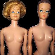 2 Vintage Midge Bbble Cut Barbie Dolls Free P&I S Byers