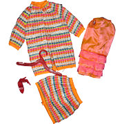 Mod Francie Barbie Doll outfit Wild'Wooly Free P&I US buyers
