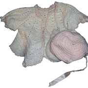 Awesome Sweater & Baby bonnet for Larger Dy Dee Doll & Friends