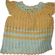 Beautiful detailed crocheted dress for Dy Dee baby doll & friends Free P&I US Buyers