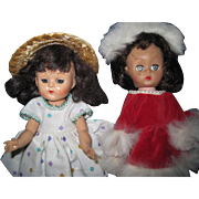 "Two Cute Vintage 8"" dolls one Ginger Free P&I US Buyers"