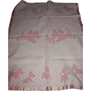 Adorable Scottie Dogs Crib Blanket wbox for Dydee Dolls and friends Free P&I US Buyers