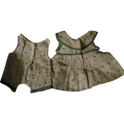 Adorable 2 Piece Doted Dress & Jumper fpr Shirley Temple & Effanbee Doll Free P&I US Buyers