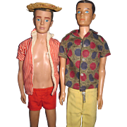 Two Vintage Barbie Ken dolls Free P&I US Buyers