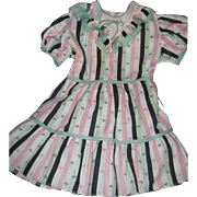 large Vintaage Clover Pattern dress For Patty Pay Pal type Doll Free P&I US Buyers!
