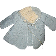 Adorable Bonnet & Sweater for Dy Dee Baby Doll & Friends Free P&I US Buyers
